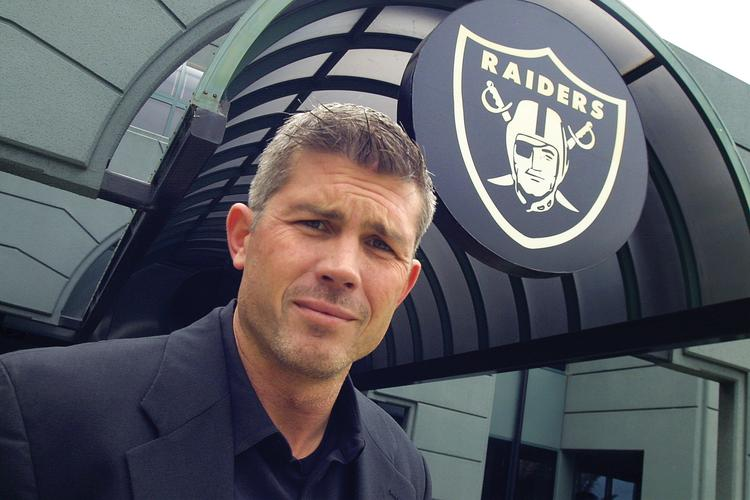 """""""We need to show value … for business to join with us,"""" says Tom Blanda of the Raiders' business operations."""