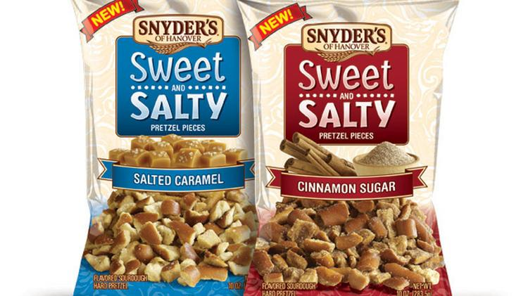 Snyder's of Hanover is adding two new flavors to its Sweet and Salty Pretzel Pieces.