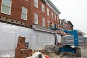 A look at the apartments under construction in the 600 block of South Broadway in Fells Point.