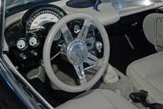 The cockpit of a 1960 Corvette on display at the DBJ's Book of List reception at Starbase in Addison.