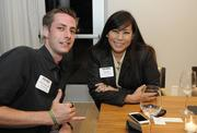 Nicholas Haigler, Thoughts & Strategies and Velma Hulihee-Carstensen of Morton's The Steakhouse