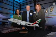 Kalvani Ravi, Bob Drenka and Kay Castro of Emirates airline, which was a sponsor of the DBJ's Book of Lists reception.