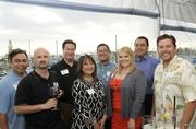 From left, Lance Masuda, American Savings Bank, Mark Abramson, Pacific Business News, Troy Goodall, Gourmet Events Hawaii, Cynthia Hermosa, American Savings Bank, Arnold Santayana, American Savings Bank, Yancey Unequivocally, Empowered Presentations!, John Strandberg, Pacific Business News and Keoni Vaughn of CrimeStoppers Honolulu