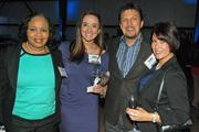 Michelle McDonald, Kate Greenback, Mark McDaniel and Leslie Robbins enjoy themselves at the Book of Lists reception.