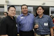 From left, Aaron Okamoto, The Carpet Shoppe, John Strandberg, Pacific Business News, and Stanley Yuen of New York Life