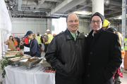 Gary Stokan, president and CEO of the Chick-fil-A Bowl, and architect Kevin Gordon, principal with tvsdesign.