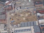 An overhead view of the Maintenance and Operations Facility site.