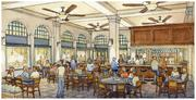 Rendering of the new restaurant planned for the Florentine Building.