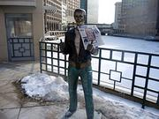 Even the Bronze Fonz gives the new Milwaukee Business Journal two thumbs up.