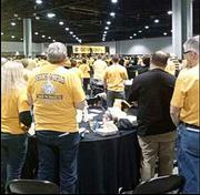 Shocker fans came together for a pep rally in Atlanta this afternoon.