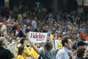 Fidelity Bank got some nice publicity, by being on the back of roll-out Shocker banners.