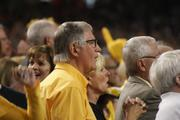 Wichita developer Steve Clark watches the Shockers near the end of the first half.
