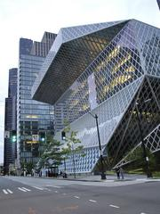 """Seattle's coolest building -- Seattle's glass-and-steel Central Library, designed by Rem Koolhaas and Joshua Prince-Ramus of OMA/LMN, looks like something out of a """"Transformers"""" movie. Reviews of the downtown structure have been mixed since it opened downtown in 2004, but it has drawn millions of visitors."""