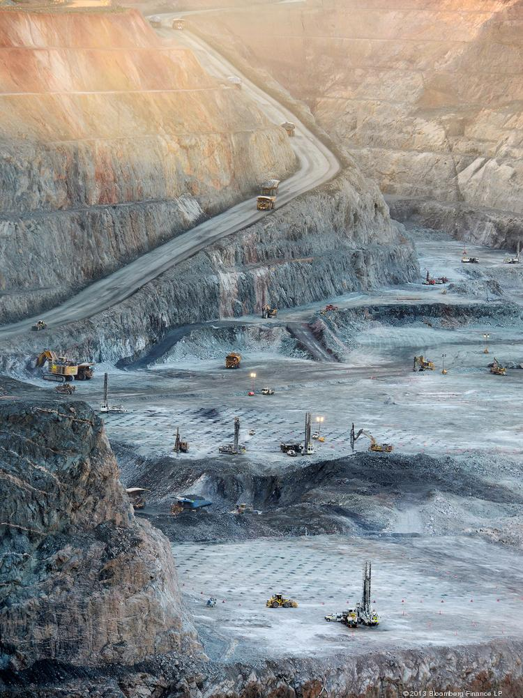 The Fimiston Open Pit, known as the Super Pit, in Kalgoorlie, Australia, is a joint venture of Barrick Gold Corp. and Newmont Mining Corp.