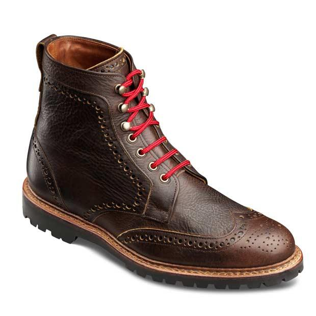 Wingtip boots like these are must-have items for men this winter, writes Judah Estreicher.