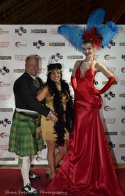 Dan Cronin (co-founder of Hair O' The Dog and Chorus Communications) with his wife Maria on the red carpet.
