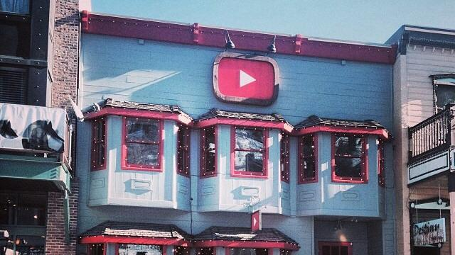 YouTube's headquarters on Main Street, Park City during the Sundance Film Festival