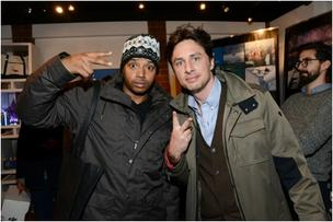 Zach Braff and Donald Faison drop in on the Keri Feinstein Style Lounge.
