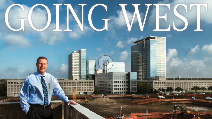 Jim Murphy, general manager of the Westchase District, in front of the site where Phillips 66's headquarters is being built. The project prompted a building boom in the area.  Click through the slideshow to see more major office activity underway in Westchase.