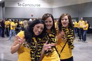 Shocker fans show their spirit during Saturday's pep rally.
