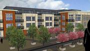 Rendering of the Menomonee Falls apartment complex planned by Fiduciary Real Estate Development