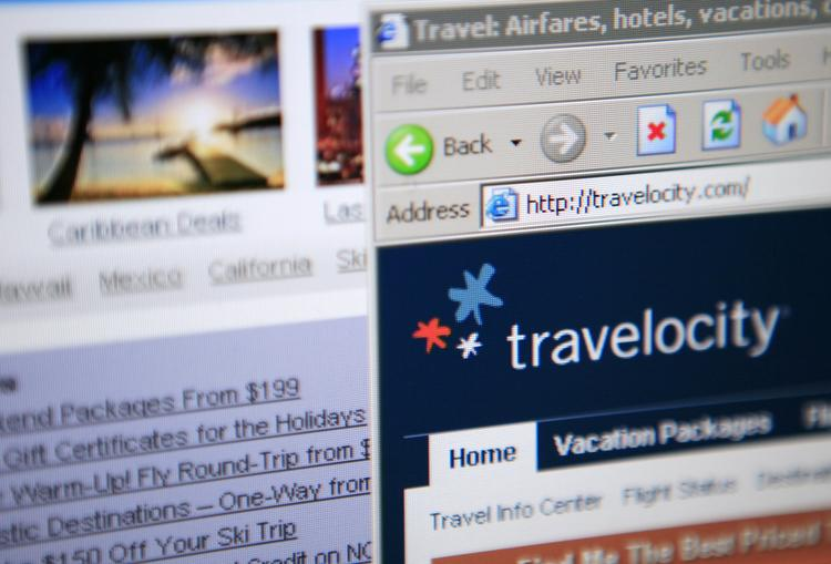 Sabre Corp. is the owner of the Travelocity travel website.  Photographer: Andrew Harrer/Bloomberg News.