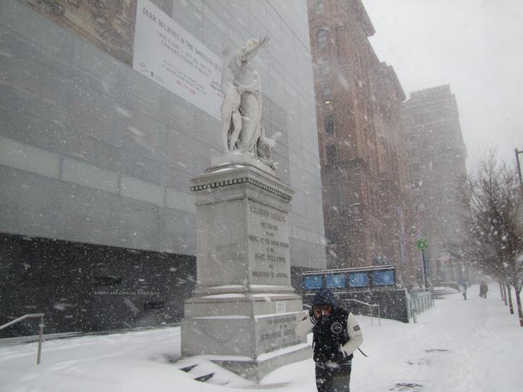 The National Museum of American Jewish History was among attractions to close early on Tuesday because of the snow storm.