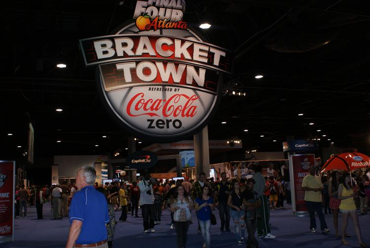 Bracket Town gave fans something to do on a day between the games at the Final Four.