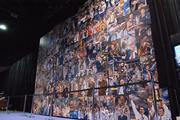A wall inside Bracket Town commemorates 75 years of March Madness.