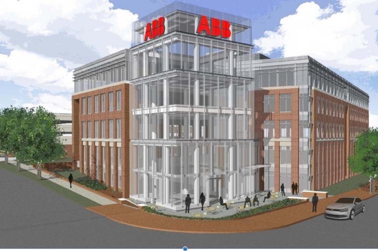 A rendering of what ABB's expanded operation will look like at N.C. State University's Centennial Campus