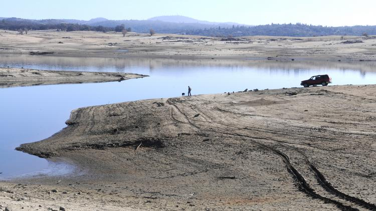 The California Senate advanced a measure Wednesday that would require local governments to create agencies to ensure groundwater is managed adequately to prepare for drier years. This is Folsom Lake as seen in January.
