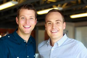 Outbox Inc. founders Evan Baehr, left, and Will Davis