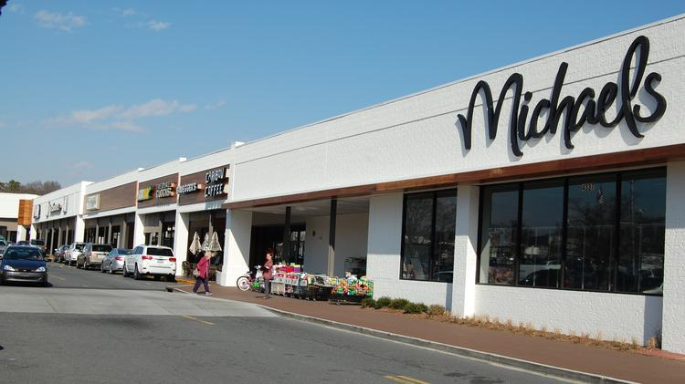 Craft-supply shop Michaels (NYSE:MIK) is one of the anchor tenants at Charlotte's Park Road Shopping Center.
