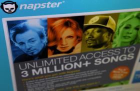 Napster Inc.'s digital music service homepage is displayed on a computer screen in New York, Thursday, January 4, 2007.