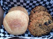Snickerdoodle and Oatmeal Raisin cookies from the Cookie Cab LLC in San Antonio