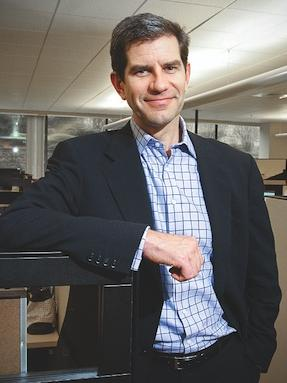 Plenty has changed for LogMeIn since 2009, when the company went public and this photo of CEO Michael Simon was taken.