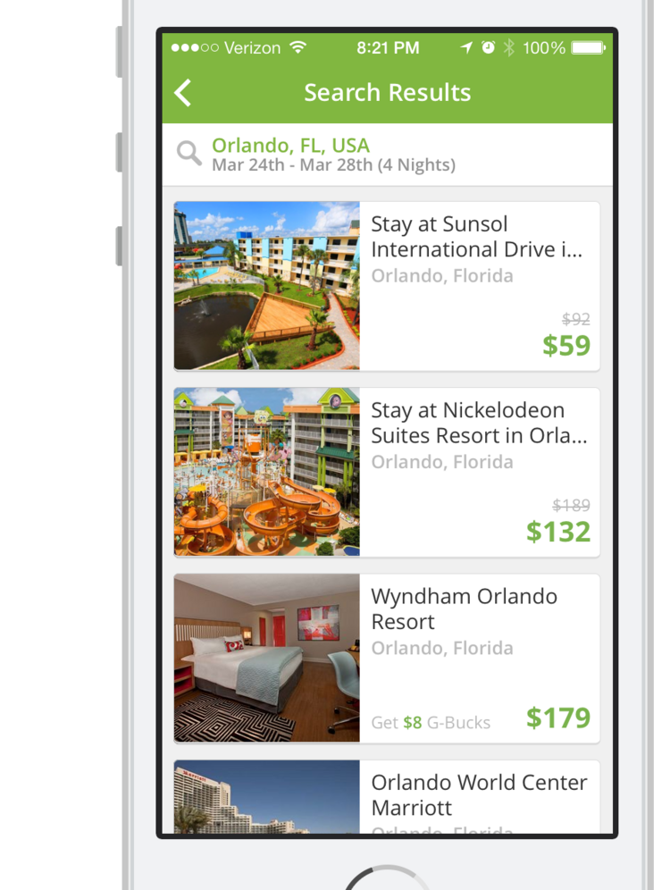Groupon is expanding the hotel inventory in its Groupon Getaways marketplace.