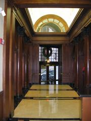 The lobby of 22 Batterymarch St. in Boston.