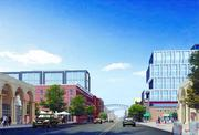 The Offices at the Joseph, at left, will be across High Street from the Joseph/Le Méridien luxury hotel.