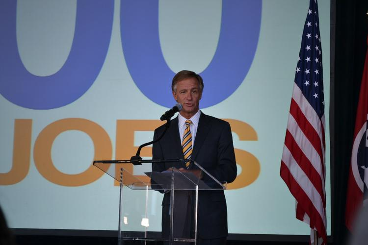 Tennessee Governor Bill Haslam at Conduit announcment in Memphis