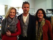 On January 14, supporters of the American Heart Association gathered at JAMIE for a benefit reception to shop for the Heart cause. A portion of the proceeds went to Go Red For Women and the upcoming Heart Gala on February 1.   From left: Luci Carroll; Jeff Garner, designer of the international fashion line Prophetik and Deby Pitts