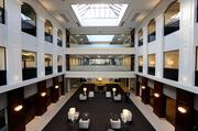A view of the three-story atrium in Country Club Bank's new headquarters at One Ward Parkway.