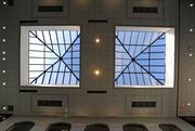 Two skylights bring natural lighting into the atrium at Country Club Bank's new headquarters.