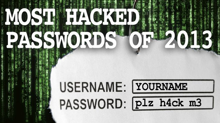 Wanna get hacked? Then use one of these passwords. SplashData ranked the most commonly used passwords stolen by hackers and posted online in 2013.