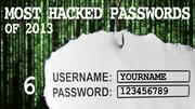 The most hacked passwords list includes 123456789 at No. 6.