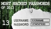 The most hacked passwords list includes 1234567890 at No. 13.