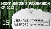 The most hacked passwords list includes photoshop at No. 15.