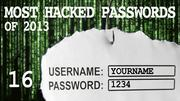The most hacked passwords list includes 1234 at No. 16.