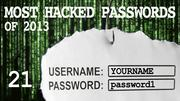 The most hacked passwords list includes password1 at No. 21.