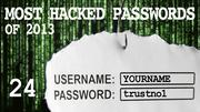 The most hacked passwords list includes trustno1 at No. 24.
